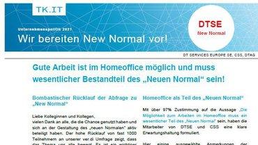 Flyer Ergebnisse Befragung New Normal BetrGr Zentrale Betriebe Telekom Köln - Teaser
