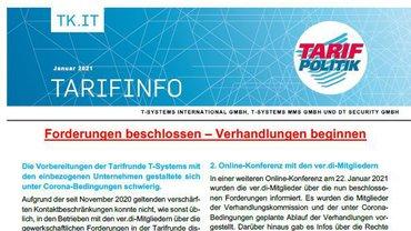Tarifinfo 1 Tarifrunde 2021 TSI-MMS-DT Security - Teaser