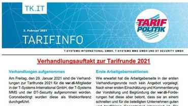 Tarifinfo 2 Tarifrunde 2021 TSI-MMS-DT Security - Teaser