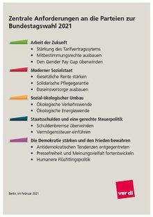 Kernbotschaften der zentralen Anforderungen an die Parteien zur Bundestagswahl 2021
