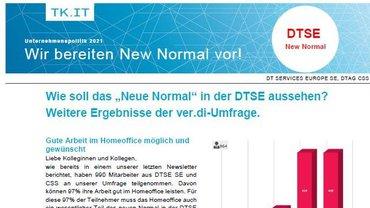 Flyer 2 zu Ergebnissen Befragung New Normal BetrGr Zentrale Betriebe Telekom Köln