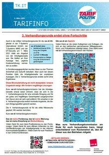 Tarifinfo 4 Tarifrunde 2021 TSI-MMS-DT Security - Dritte Verhandlungsrunde ohne Fortschritte