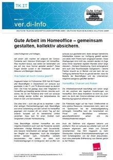 ver.di-Info DT GKV / DT BS - Gute Arbeit im Homeoffice – gemeinsam gestalten, kollektiv absichern - Seite 1 von 2