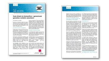 ver.di-Info DT GKV / DT BS - Gute Arbeit im Homeoffice – gemeinsam gestalten, kollektiv absichern
