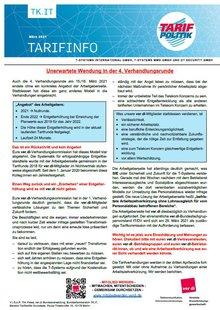 Tarifinfo 5 Tarifrunde TSI 2021