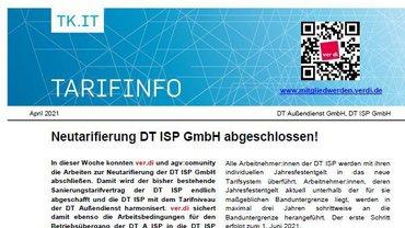 Tarifinfo Neutarifierung DT ISP abgeschlossen - Teaser