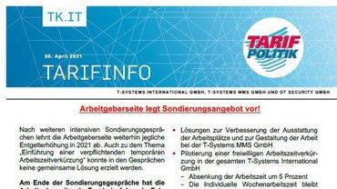Tarifinfo 7 Tarifrunde 2021 TSI-MMS-DT Security - Arbeitgeberseite legt Sondierungsangebot vor - Teaser