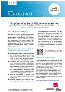 ver.di-Info Corona-Impfung und Arbeitsrecht