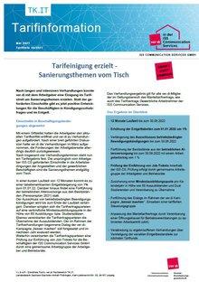 Tarifinfo ISS CS: Tarifeinigung erzielt - Sanierungsthemen vom Tisch - Seite 1 von 2