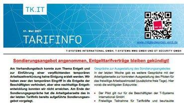 Tarifinfo 8 Tarifrunde 2021 TSI-MMS-DT Security - Teaser
