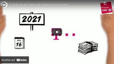 Startbild Videoclip zu Inhalten und Zusammenhängen der 2. Stufe aus der Tarifrunde Telekom 2020
