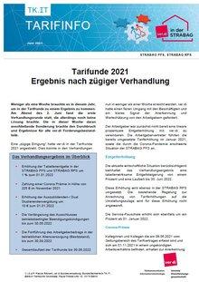 Tarifinfo Verhandlungsergebnis Tarifrunde 2021 STRAPAG PFS - Seite 1 on 2