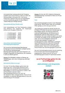 Tarifinfo Verhandlungsergebnis Tarifrunde 2021 STRAPAG PFS - Seite 2
