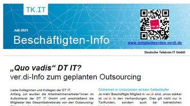 Beschäftigteninfo zum geplanten Outsourcing aus der DT IT GmbH - Teaser