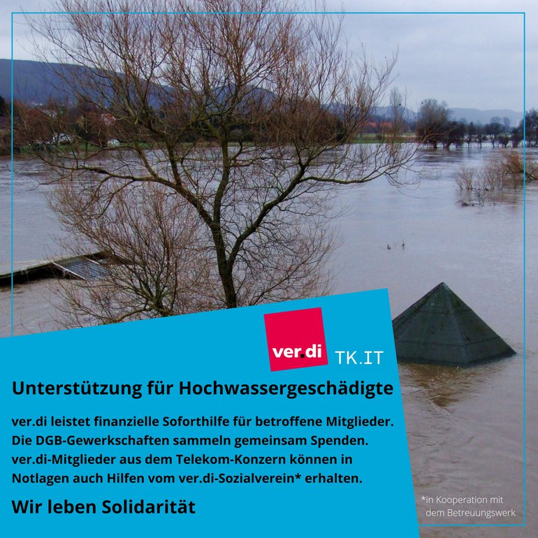 Hochwasserhilfe ver.di