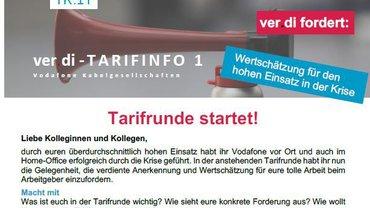 Tarifinfo 1 - Tarifrunde 2021 Vodafone Kabelgesellschaften - Teaser