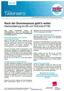 Tarifinfo DT BS / DT GKV b2b August 2021