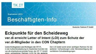 DT IT Beschäftigteninfo LOI zur Ausgründung  CON Chapter - Teaser