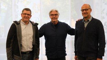 von links nach rechts: Burkhard Gillmann, Klaus-Dieter Vetter, Christoph Faßbender